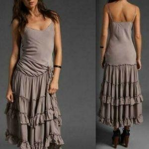 Free People Tracks Of My Tiers Ruffle Midi Dress